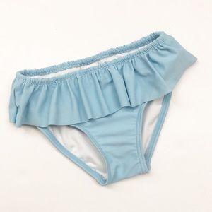 Tucker + Tate girls blue ruffle swim bottoms